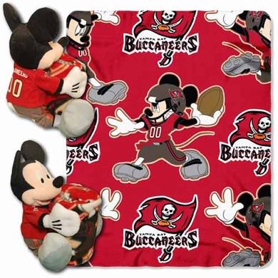 Tampa Bay Buccaneers Mickey Mouse Pillow / Throw Combo