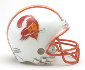 Tampa Bay Buccaneers Mini Replica Throwback Football Helmet