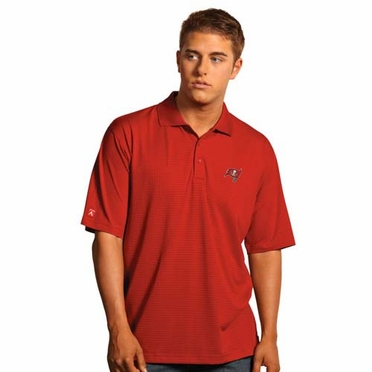 Tampa Bay Buccaneers Mens Phoenix Waffle Weave Polo (Team Color: Red)