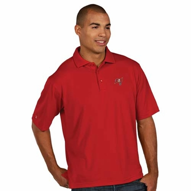 Tampa Bay Buccaneers Mens Pique Xtra Lite Polo Shirt (Team Color: Red)