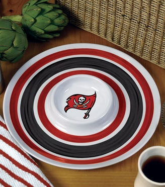Tampa Bay Buccaneers Plastic Chip and Dip Plate