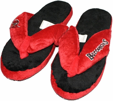 Tampa Bay Buccaneers Plush Thong Slippers