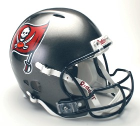 Tampa Bay Buccaneers Riddell Full Size Authentic Revolution Helmet