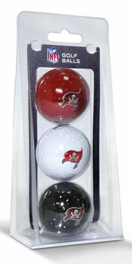Tampa Bay Buccaneers Set of 3 Multicolor Golf Balls