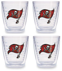Tampa Bay Buccaneers Set of FOUR 12 oz. Tervis Tumblers