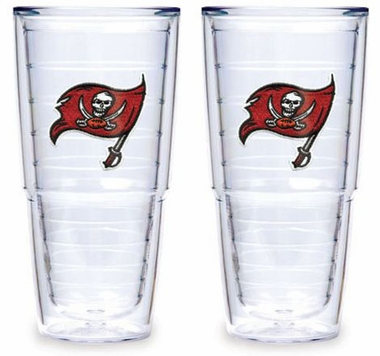 "Tampa Bay Buccaneers Set of TWO 24 oz. ""Big T"" Tervis Tumblers"