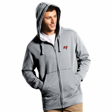 Tampa Bay Buccaneers Mens Signature Full Zip Hooded Sweatshirt (Color: Gray)