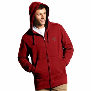 Tampa Bay Buccaneers Mens Signature Full Zip Hooded Sweatshirt (Team Color: Red)