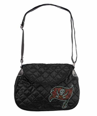 Tampa Bay Buccaneers Sport Noir Quilted Saddlebag