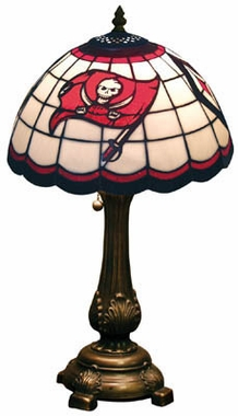Tampa Bay Buccaneers Stained Glass Table Lamp