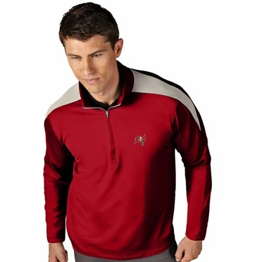 Tampa Bay Buccaneers Mens Succeed 1/4 Zip Performance Pullover (Team Color: Red)