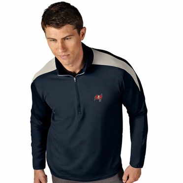Tampa Bay Buccaneers Mens Succeed 1/4 Zip Performance Pullover (Color: Smoke)