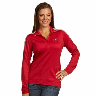 Tampa Bay Buccaneers Womens Succeed 1/4 Zip Performance Pullover (Team Color: Red)