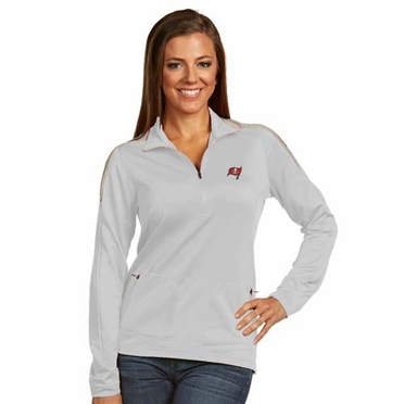 Tampa Bay Buccaneers Womens Succeed 1/4 Zip Performance Pullover (Color: White)
