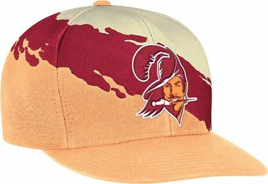 Tampa Bay Buccaneers Vintage Paintbrush Snap Back Hat