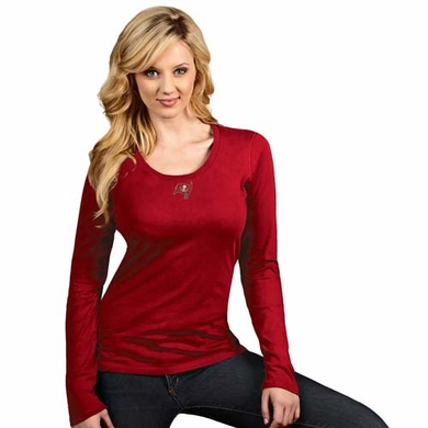 Tampa Bay Buccaneers Womens Relax Long Sleeve Tee (Team Color: Red)
