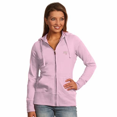Tampa Bay Buccaneers Womens Zip Front Hoody Sweatshirt (Color: Pink)