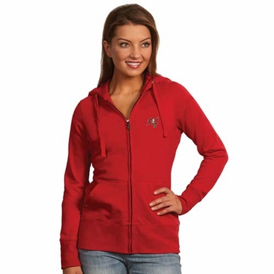 Tampa Bay Buccaneers Womens Zip Front Hoody Sweatshirt (Team Color: Red)