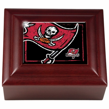 Tampa Bay Buccaneers Wooden Keepsake Box