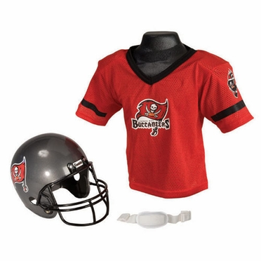 Tampa Bay Buccaneers Youth Helmet and Jersey Set