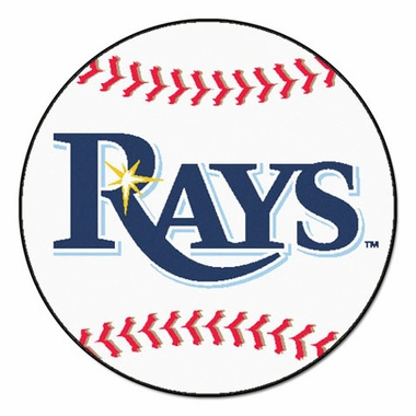Tampa Bay Devil Rays Baseball Shaped Rug