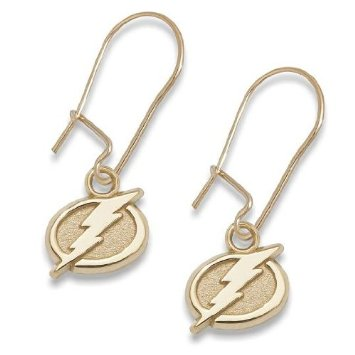 Tampa Bay Lightning 10K Gold Post or Dangle Earrings