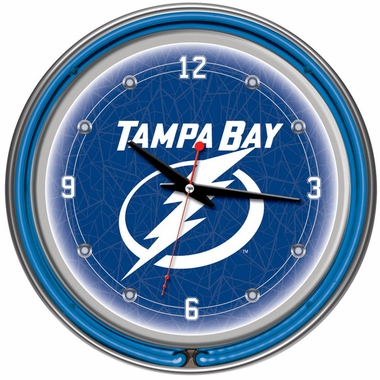 Tampa Bay Lightning 14 Inch Neon Clock