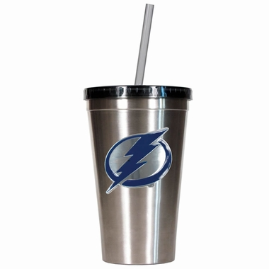 Tampa Bay Lightning 16oz Stainless Steel Insulated Tumbler with Straw