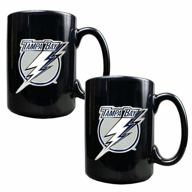Tampa Bay Lightning 2 Piece Coffee Mug Set