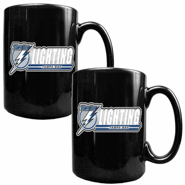 Tampa Bay Lightning 2 Piece Coffee Mug Set (Wordmark)