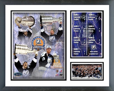 Tampa Bay Lightning - 2004 Stanley Cup Winners - Framed Milestones & Memories