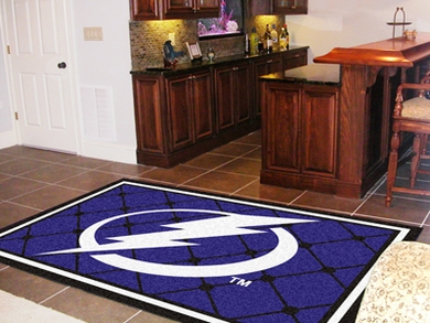 Tampa Bay Lightning 5 Foot x 8 Foot Rug