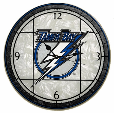 Tampa Bay Lightning Art Glass Clock