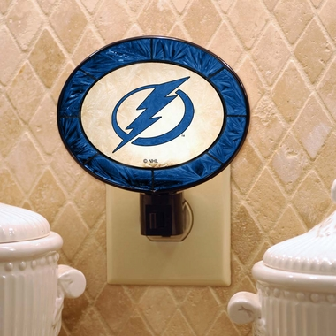 Tampa Bay Lightning Art Glass Night Light