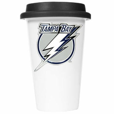 Tampa Bay Lightning Ceramic Travel Cup (Black Lid)