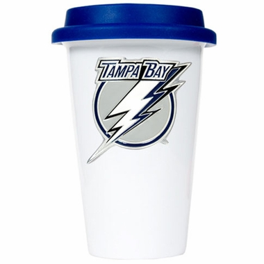 Tampa Bay Lightning Ceramic Travel Cup (Team Color Lid)