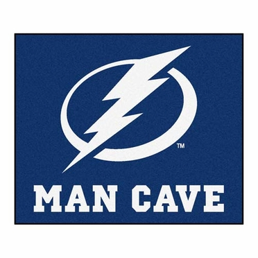 Tampa Bay Lightning Economy 5 Foot x 6 Foot Man Cave Mat