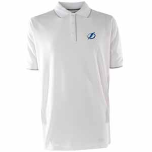 Tampa Bay Lightning Mens Elite Polo Shirt (Color: White) - X-Large