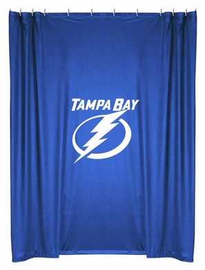 Tampa Bay Lightning Jersey Material Shower Curtain