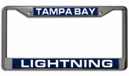 Tampa Bay Lightning Laser Etched Chrome License Plate Frame