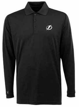 Tampa Bay Lightning Mens Long Sleeve Polo Shirt (Team Color: Black)