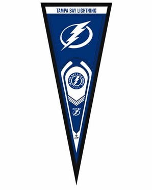 "Tampa Bay Lightning Pennant Frame - 13"" x 33"" (No Glass)"