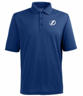 Tampa Bay Lightning Mens Pique Xtra Lite Polo Shirt (Team Color: Royal)