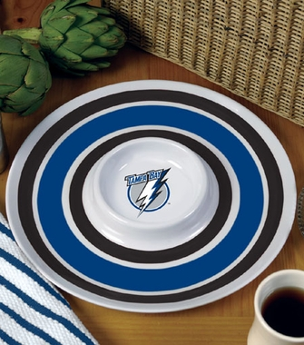 Tampa Bay Lightning Plastic Chip and Dip Plate