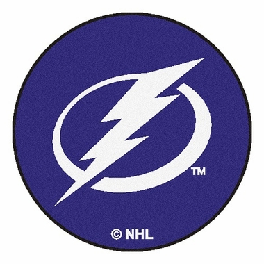 Tampa Bay Lightning 27 Inch Puck Shaped Rug