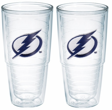 "Tampa Bay Lightning Set of TWO 24 oz. ""Big T"" Tervis Tumblers"