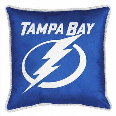 Tampa Bay Lightning SIDELINES Jersey Material Toss Pillow