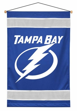 Tampa Bay Lightning SIDELINES Jersey Material Wallhanging