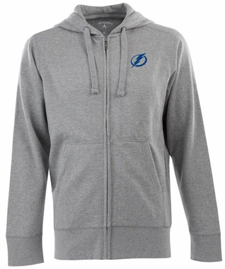 Tampa Bay Lightning Mens Signature Full Zip Hooded Sweatshirt (Color: Gray)