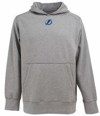 Tampa Bay Lightning Mens Signature Hooded Sweatshirt (Color: Gray)